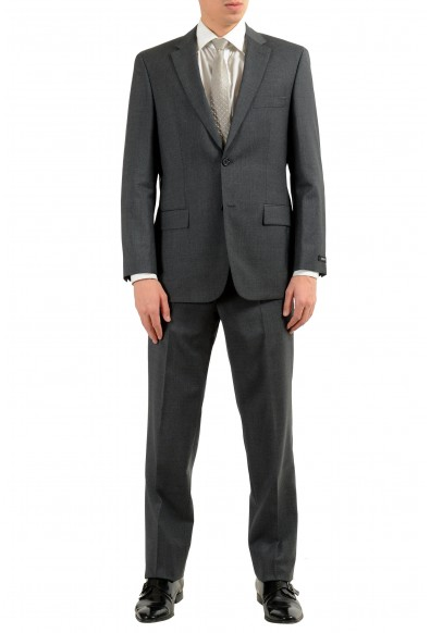"Hugo Boss ""Paolini1/Movlo1US"" Men's Dark Gray 100% Wool Two Button Suit"