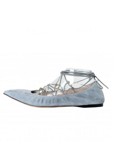 Valentino Garavani Women's Leather Studded Ballerina Flats Shoes: Picture 2