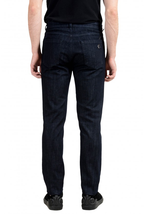 """Versace Collection """"Trend"""" Men's Dark Gray Stretch Classic Jeans: Picture 3"""