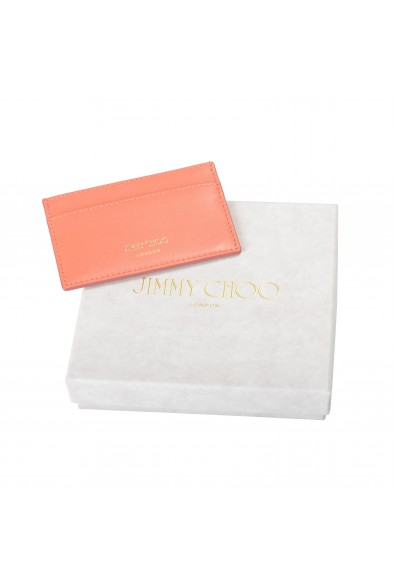 """Jimmy Choo Women's Powder Pink Leather """"Athini"""" Card Holder: Picture 2"""