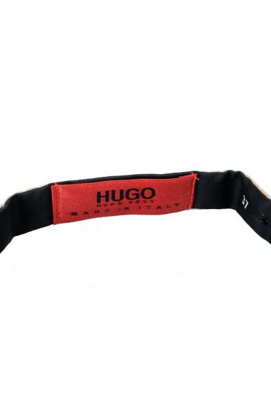 Hugo Boss Men's 100% Silk Beige Bow Tie: Picture 2