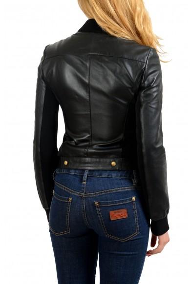 Versace Versus 100% Leather Black Women's Basic Jacket : Picture 2