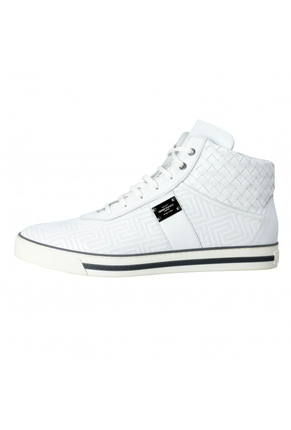 Gianni Versace Men's Leather Hi Top Sneakers Shoes : Picture 4