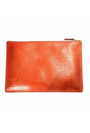 Jil Sander 100% Leather Gold Women's Clutch Bag