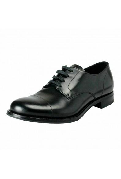 Prada Men's Black Polished Leather Oxfords Shoes