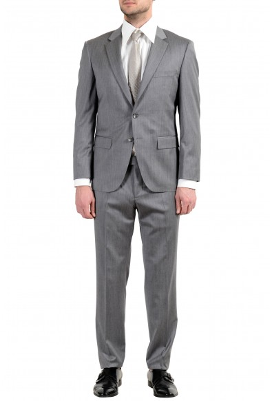"Hugo Boss ""T-Harvers4/Glover2"" Men's Slim 100% Wool Gray Two Button Suit"