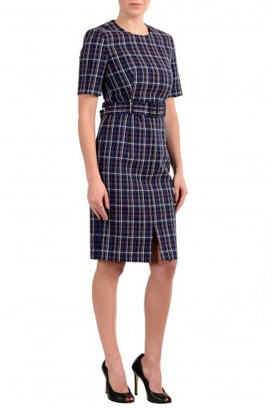 "Hugo Boss ""Ditania"" Women's Multi-Color Belted Short Sleeve Sheath Dress: Picture 2"