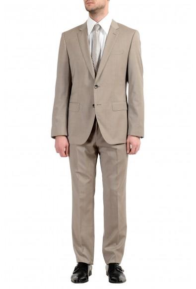 """Hugo Boss """"Huge6/Genius5"""" Men's 100% Wool Slim Beige Two Button Suit"""