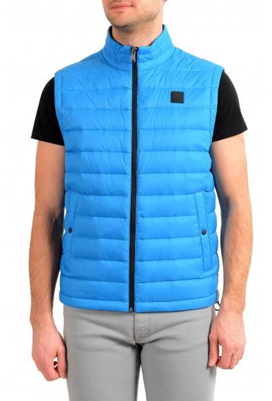 """Hugo Boss """"Chroma"""" Men's Blue Down Full Zip Vest"""