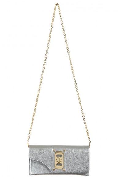 Versace 100% Leather Gray Women's Crossbody Shoulder Bag