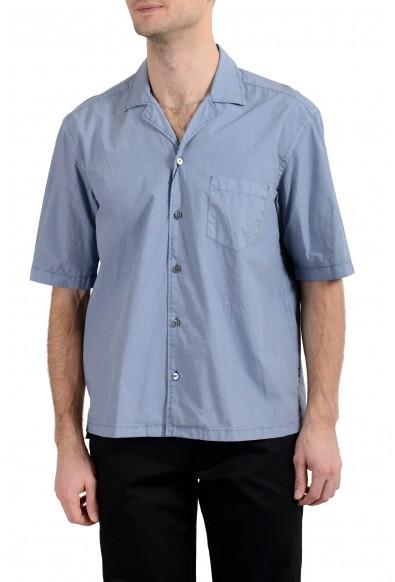 "Hugo Boss ""Lello_P"" Men's Regular Fit Gray Short Sleeve Casual Shirt"