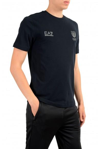 "Emporio Armani EA7 ""Italia Team"" Men's Blue Crewneck T-Shirt: Picture 2"