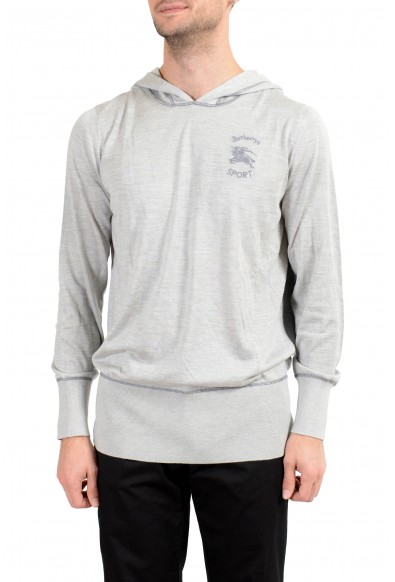 Burberry Men's Silk Cashmere Gray Hooded Sweater