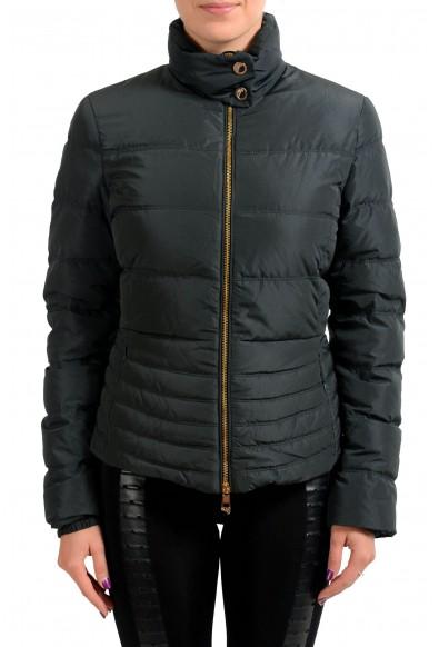 Versace Collection Black Goose Down Women's Parka Jacket