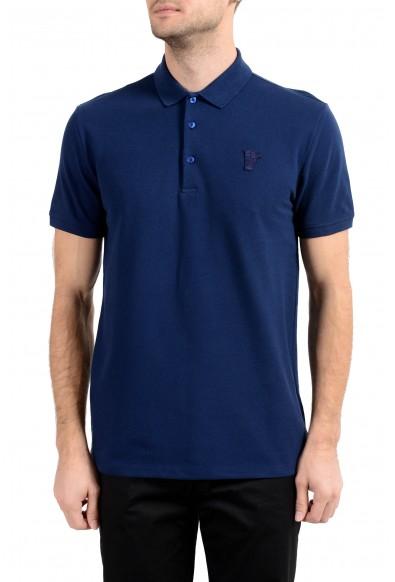 Versace Collection Men's Dark Blue Short Sleeve Polo Shirt