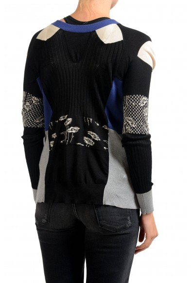 Maison Margiela 100% Silk Multi-Color Knitted Women's Cardigan Sweater: Picture 2
