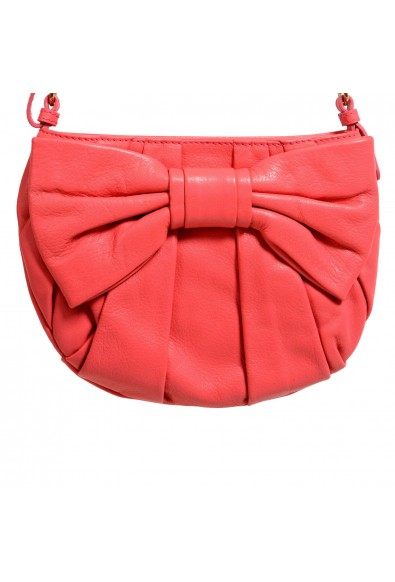 Red Valentino Women's Pink 100% Leather Bow Decorated Shoulder Bag: Picture 2