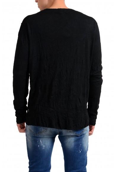 Exte Men's Black 100% Wool Crewneck Light Sweater: Picture 2
