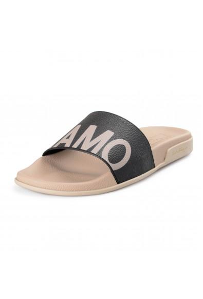 """Salvatore Ferragamo Men's """"Amos"""" Rubber Slides Flip Flops Shoes"""