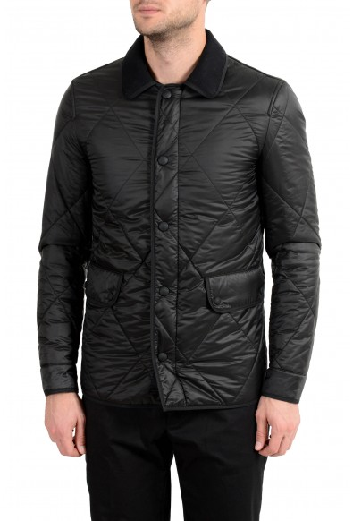 """Burberry Brit Men's """"Townsend"""" Black Lightly Insulated Parka Jacket"""