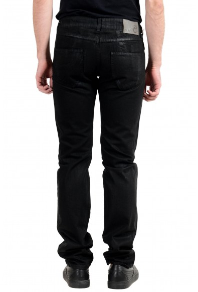 Exte Men's Black Coated Straight Leg Jeans: Picture 2