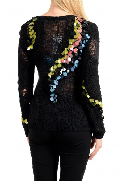 Versace Women's See Through Crewneck Sweater: Picture 2