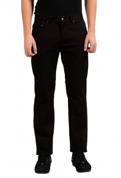 Versace Collection Brown Men's Classic Straight Leg Jeans