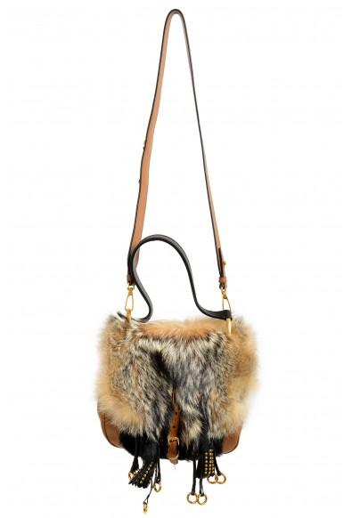 Prada Women's 1BD080 Fur Leather Shoulder Handbag Bag