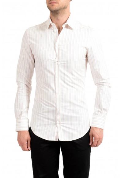 Dolce & Gabbana Men's Striped Long Sleeve Dress Shirt