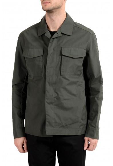 "Hugo Boss ""Ofron"" Men's Olive Green Button Up Water Repellent Jacket"