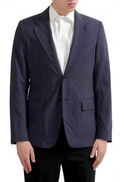 Dolce & Gabbana Men's Off Blue Light Two Button Blazer Sport Coat