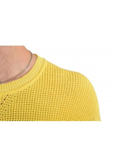 "Hugo Boss ""Silan"" Men's Linen Yellow Crewneck Sweater: Picture 2"