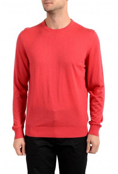 Kiton Napoli Men's Red Crewneck Silk Cashmere Pullover Sweater