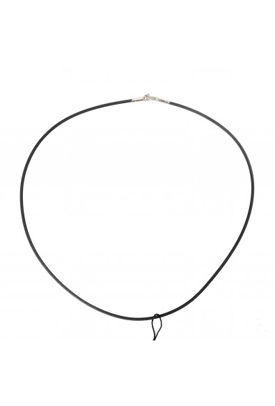 BARAKA Men's GC251251BICA600000 White Gold Rubber Chain Necklace