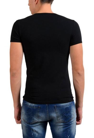 Versace Collection Men's Black Stretch V-Neck Short Sleeve T-Shirt : Picture 2