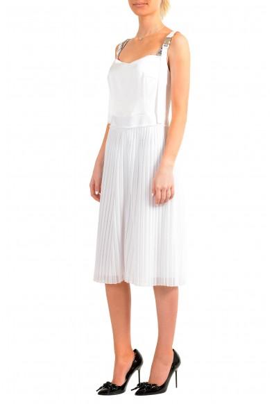 "Hugo Boss Women's ""Kaplissa-1"" White Pleated Sleeveless Sundress Dress: Picture 2"