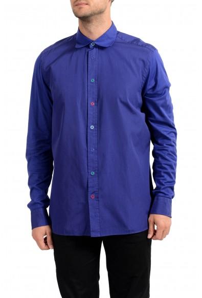 Malo Men's Purple Long Sleeve Dress Shirt