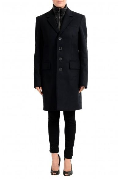 Burberry Women's Black Wool Cashmere Button Down Coat & Vest