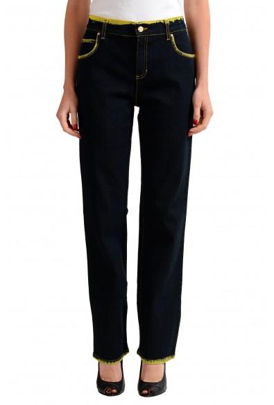 Versace Jeans Distressed Women's Straight Leg Denim Jeans