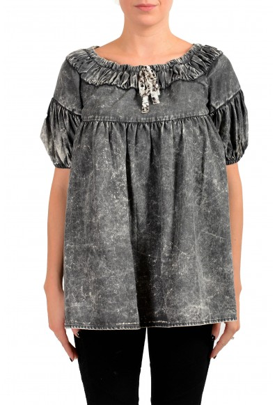 Just Cavalli Women's Gray Blouse Top