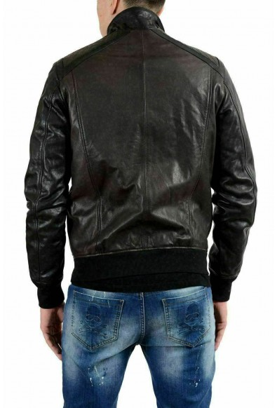 Just Cavalli Men's 100% Leather Two Tones Full Zip Jacket: Picture 2