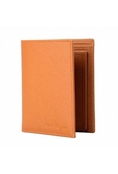 Salvatore Ferragamo 100% Leather Brown Men's Bifold Wallet