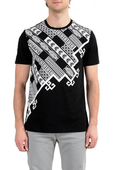 Versace Collection Men's Black Graphic Short Sleeve Crewneck T-Shirt