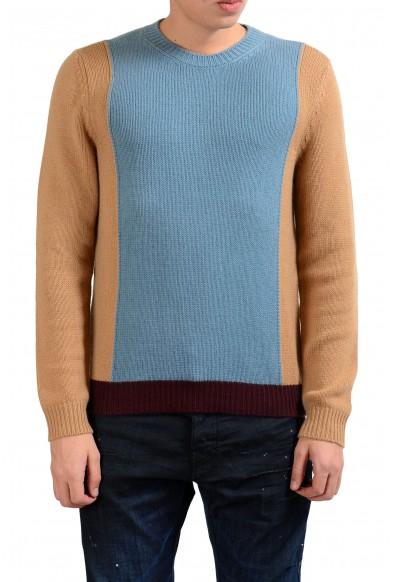 Valentino Men's 100% Cashmere Crewneck Multi-Color Sweater