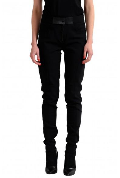 Tom Ford Wool Black Slim Fit Women's Casual Pants