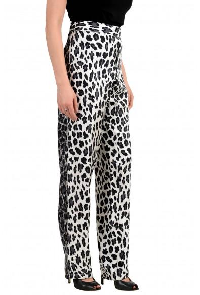 Versace Women's Animal Print 100% Silk Flat Front Pants: Picture 2