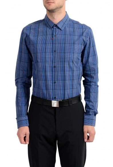 "Hugo Boss ""EagelX"" Men's Plaid Slim Fit Long Sleeve Dress Shirt"