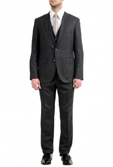 "Hugo Boss ""Jerron/Lenon1WE"" Men's 100% Wool Gray Two Button Suit"