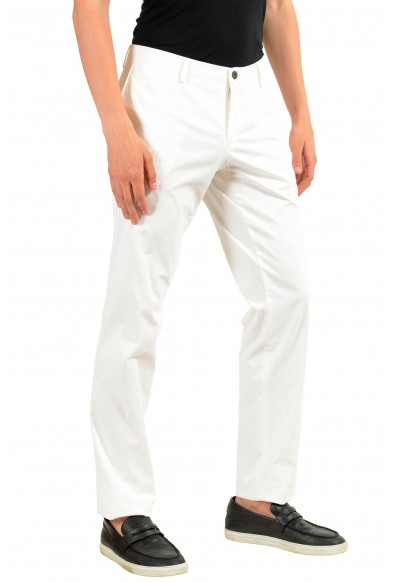 """Hugo Boss """"Stanino15-W"""" Men's White Stretch Casual Pants: Picture 2"""
