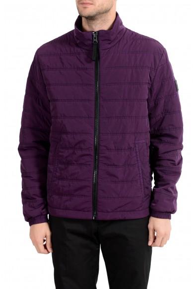 "Hugo Boss Men's ""Owest-D"" Purple Lightly Insulated Parka Jacket"